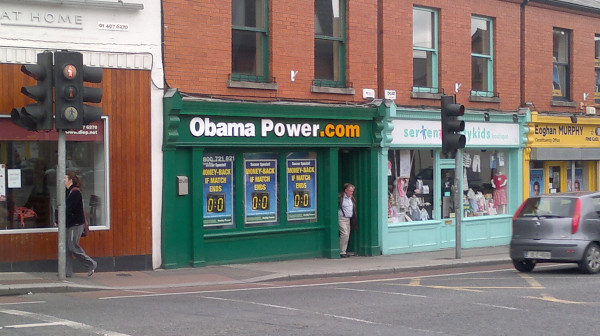 ObamaPower - Paddy Power shop in Ranelagh